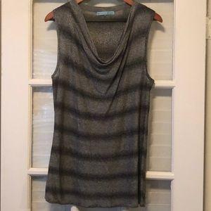 Antonio Melani black and gray sleeveless top